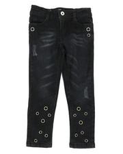 Girls - Skinny Jeans W/ Grommet Detail (4-6X)-2290102