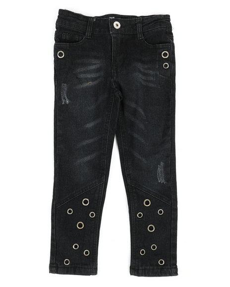 Dollhouse - Skinny Jeans W/ Grommet Detail (4-6X)