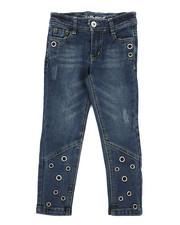 Girls - Skinny Jeans W/ Grommet Detail (4-6X)-2290097