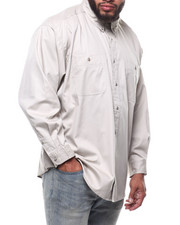 Button-downs - L/S Wrinkle Resistant Solid Shirt (B/T)-2289329