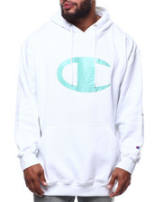 Champion - L/S Large Chest Logo Fleece Printed Pullover Hoodie (B&T)-2290331