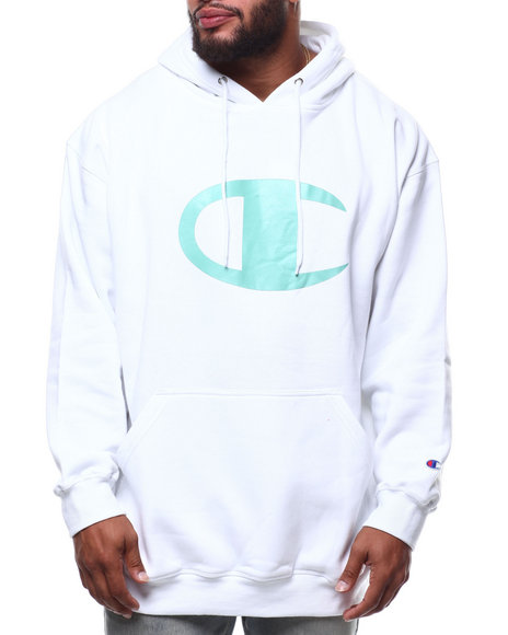 Champion - L/S Large Chest Logo Fleece Printed Pullover Hoodie (B&T)