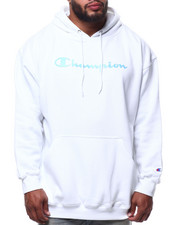 Champion - L/S Script Logo Fleece Printed Pullover Hoodie (B&T)-2290358