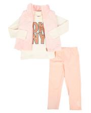 Girls - 3 Piece Mock Neck Vest & Legging Set (4-6X)-2290147
