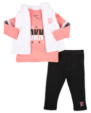DKNY Jeans - 3 Piece Mock Neck Vest & Legging Set (Infant)-2290190