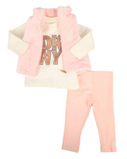 DKNY Jeans - 3 Piece Mock Neck Vest & Legging Set (Infant)-2290138