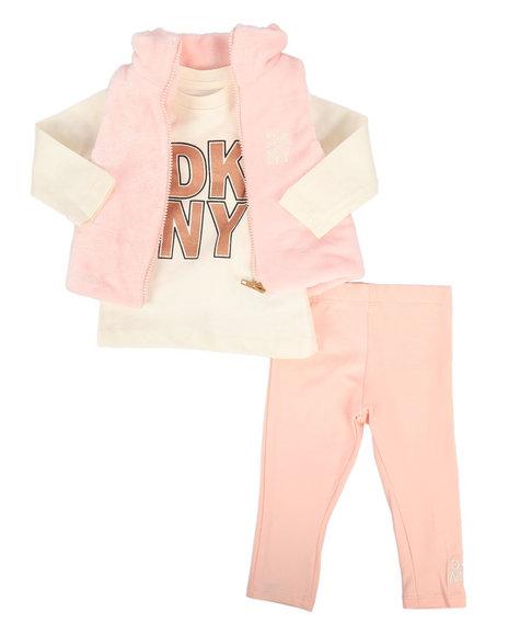 DKNY Jeans - 3 Piece Mock Neck Vest & Legging Set (Infant)