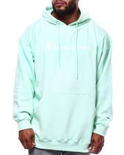 Champion - L/S Script Logo Fleece Printed Pullover Hoodie (B&T)-2290342