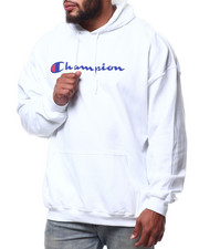 Big & Tall Faves - P/O Scripted Printed Logo Hoodie (B&T)-2290317