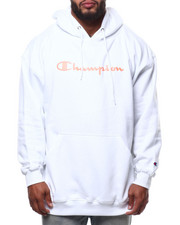 Champion - L/S Script Logo Fleece Printed Pullover Hoodie (B&T)-2289182