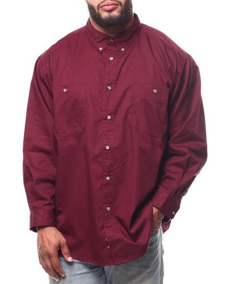 Wrangler - L/S Wrinkle Resistant Solid Shirt (B/T)
