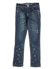 Girls - Skinny Jeans W/ Grommet Detail (7-16)-2290114