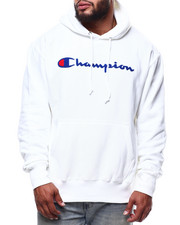 Big & Tall Faves - CHENILLE SCRIPT REVERSE WEAVE HOODIE-2290364