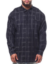 Sean John - L/S Graphic Check Shirt (B&T)-2289255