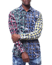 Shirts - WAVE FLORAL MULTI FLANNEL-2290623