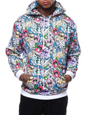 Pink Dolphin - WAVE FLORAL HOODIE-2290702