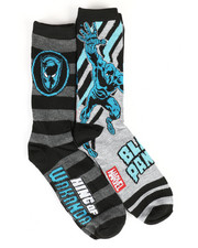 DRJ SOCK SHOP - Black Panther 2Pk Crew Socks-2290726