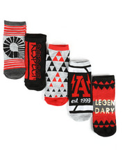Akademiks - Legendary 5 Pack Low Cut Socks-2290854