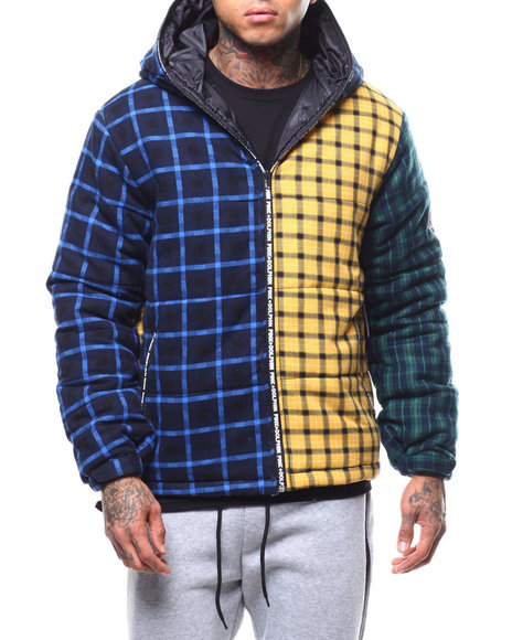 Pink Dolphin - TRIPLE PLAID PUFFER