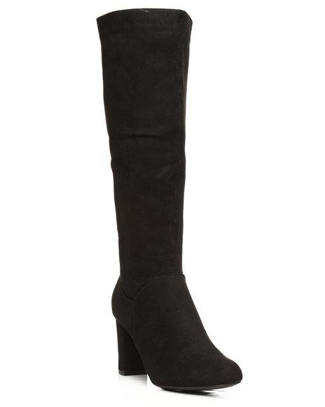 Fashion Lab - Daystar Chunky Heeled Knee High Boots