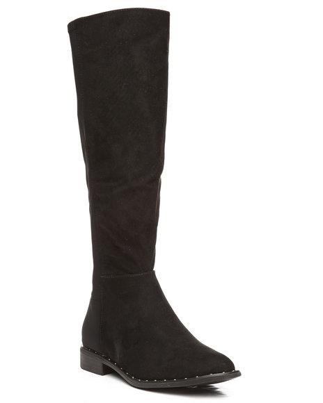 Fashion Lab - Preppy Stud Knee High Boots