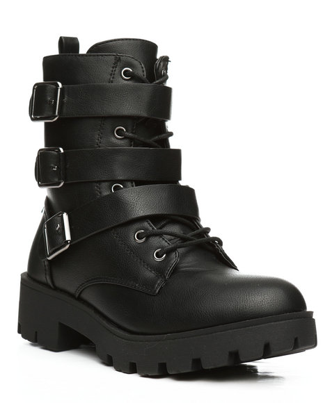 Fashion Lab - Wildone Multi Strap Bootsie