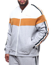Outerwear - Chevron Colorblocked Track Jacket (B&T)-2290378