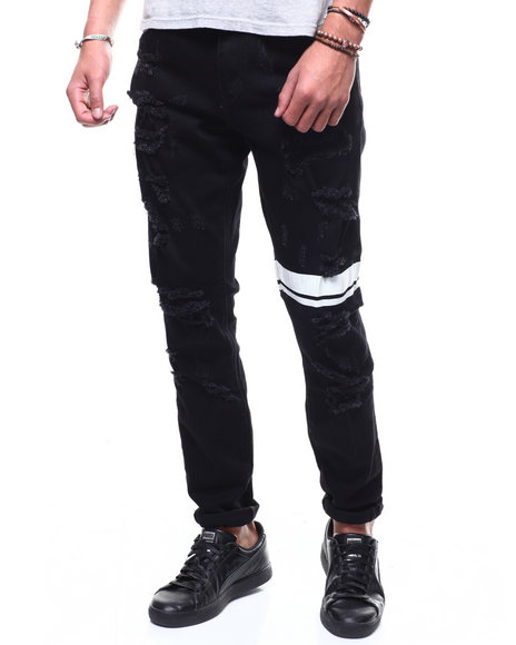 Crysp - Antila Black Jean w Stripe