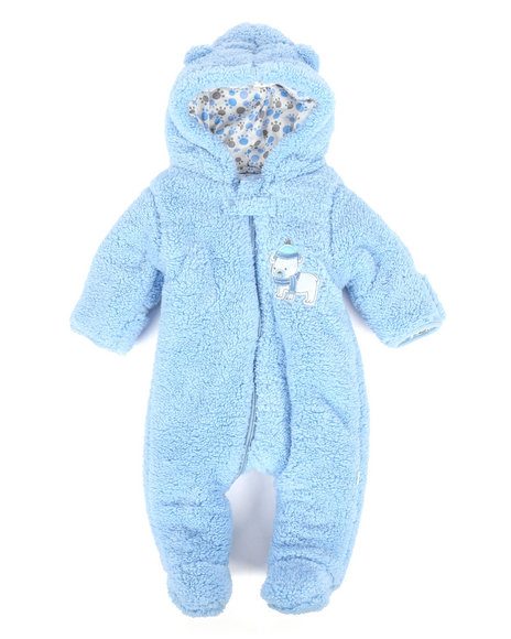 Duck Duck Goose - Bear Paws Sherpa Pram Suit (Infant)