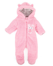Duck Duck Goose - Bunny Love Sherpa Pram Suit (Infant)-2291109