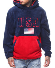 Mens-Holiday - Sherpa USA Flag Hoodie-2292407
