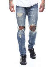 Crysp - Pacific Jean - Vintage Blue Paint Ripped-2292224