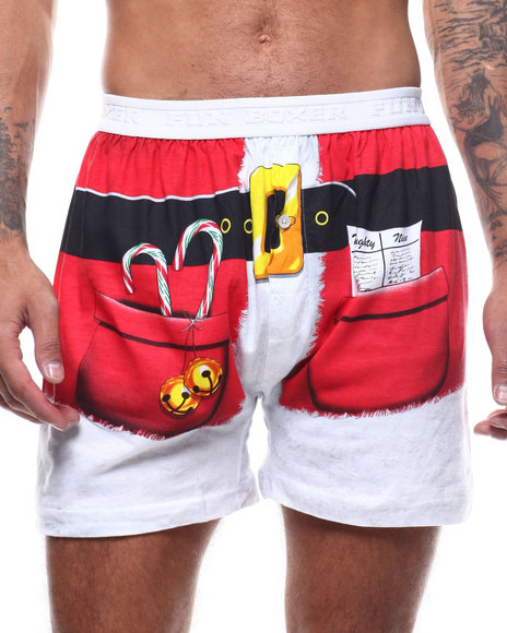 Buyers Picks - Christmas Engineer Santa Shorts Boxers