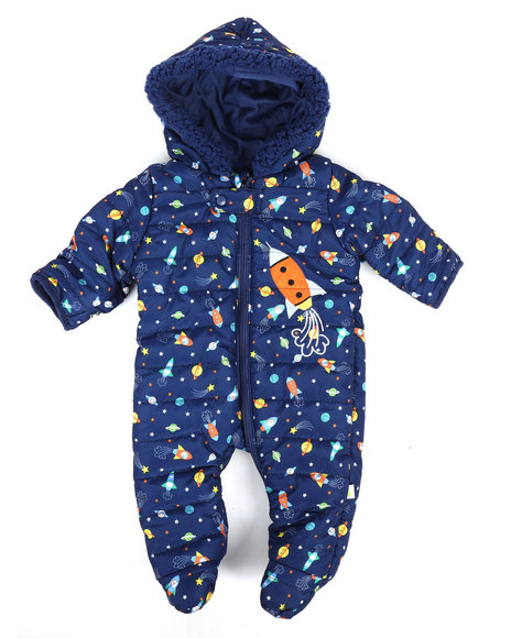 Duck Duck Goose - Space Print Quilted Padded Pram Suit (Infant)