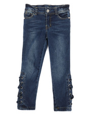 Sizes 4-6x - Kids - Side Lace-Up Skinny Jeans (4-6X)-2290078