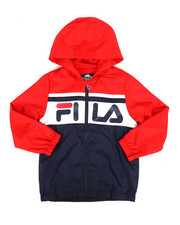 Fila - Hooded Color Block Windbreaker Jacket (8-20)-2290877