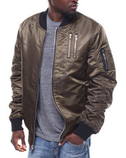 Mens-Holiday - Bomber Jacket  w Zipper Detail-2293518