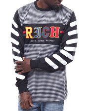 Shirts - RICH HOUNDSTOOTH LS JERSEY-2293595