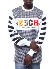 Shirts - RICH HOUNDSTOOTH LS JERSEY-2293643