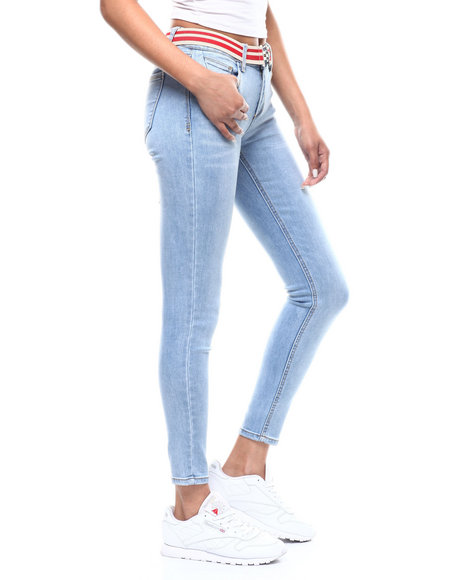 Almost Famous - 5 Pocket Belted Skinny Jean