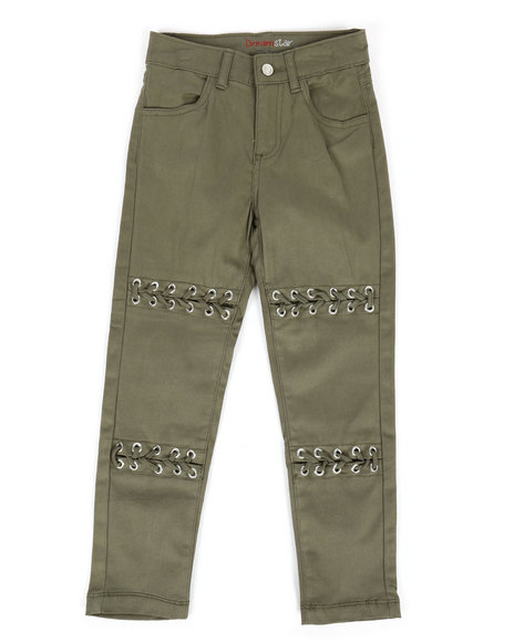 La Galleria - Twill Pants w/ Lacing Detail (4-6X)