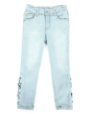 Girls - Side Lace-Up Skinny Jeans (4-6X)-2293194
