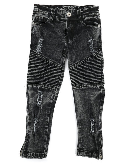 Dollhouse - Destructed Moto Skinny Jeans (4-6X)