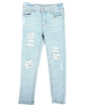 Bottoms - Destructed Skinny Jean (4-6X)-2293199