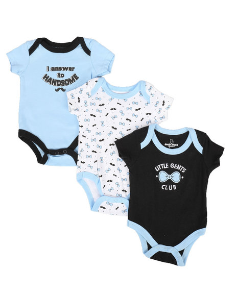 Duck Duck Goose - Little Gents Club 3 Pk Creepers Set (Infant)