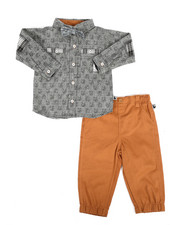 Boys - Dog Print 3Pc Woven Shirt & Pant Set (Infant)-2290897