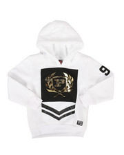 Boys - Embossed Metallic Fleece Hoodie (4-7)-2290754