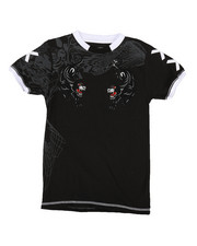 Boys - Double Panther w/ Flocking Tee (8-20)-2291223