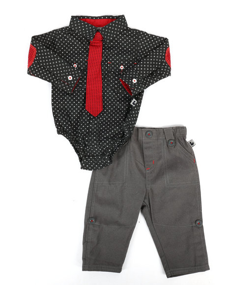 Duck Duck Goose - 3 Piece Knit Pant Set (Infant)