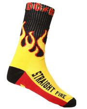 DRJ SOCK SHOP - Straight Fire Crew Socks-2290861